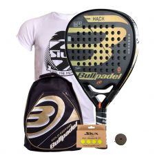 PACK BULLPADEL HACK 2018 Y MOCHILA ORO