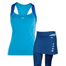 PACK VARLION FALDA MD13W13 AZUL Y CAMISETA MD12S01 AZUL