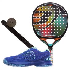 PACK BULLPADEL IRIS Y ZAPATILLAS WILSON KAOS WOMAN