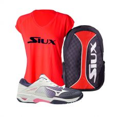 PACK MIZUNO WAVE EXCEED TOUR 3 Y MOCHILA SIUX TRAIL 2.0