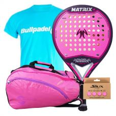 PACK MUJER PADEL SESSION MATRIX 4 Y PALETERO SOFTEE
