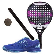 PACK SIUX OPTIMUS PRO FUCSIA Y ZAPATILLAS WILSON KAOS WOMAN