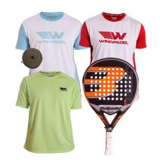 PACK BULLPADEL LEGEND 2.0 LIMITED Y CAMISETAS WINGPADEL
