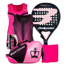 PACK BULLPADEL GOLD WOMAN 3.0 Y CAMISETA JHAYBER MUJER