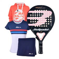 PACK BULLPADEL GOLD 3.0 WOMAN, SUDADERA Y EQUIPACION LUXURY