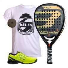 PACK BULLPADEL HACK 2018 Y ZAPATILLAS WILSON KAOS SAFETY AMARILLO