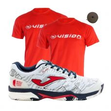 PACK JOMA SLAM 2002 CLAY WPT Y 2 CAMISETAS VISION