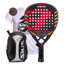 BULLPADEL VERTEX LIMITED SERIES Y MOCHILA SIUX PLATA