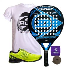 PACK DUNLOP WEAPON Y ZAPATILLAS WILSON KAOS SAFETY AMARILLO