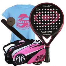 PACK VISION CONNAN 1.5 BL MUJER Y PALETERO PADEL SESSION SERIES PRO