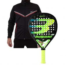 PACK BULLPADEL HACK 20 Y SOFTSHELL SIUX FUSION NEGRO