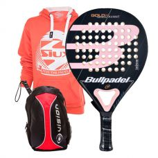 PACK BULLPADEL GOLD 3.0 WOMAN Y MOCHILA VISION
