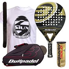 PACK BULLPADEL GOLD EDITION 2015 Y PALETERO BULLPADEL AVANTLINE NEGRO