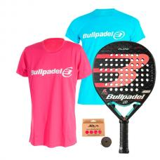 PACK BULLPADEL FLOW 2020 Y CAMISETAS BULLPADEL MUJER