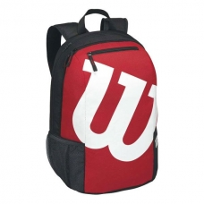 MOCHILA WILSON MATCH II BACKPACK ROJO Y NEGRO