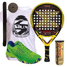 PACK NOX MAGMA MATE Y ZAPATILLAS WILSON KAOS CLAY