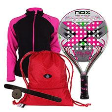 PACK NOX ML10 WOMAN CUP 3.0 Y MOCHILA SIUX ROJA