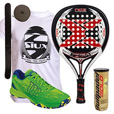 PACK NOX STINGER 2 1 Y ZAPATILLAS WILSON KAOS CLAY