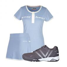 PACK ZAPATILLAS VARLION V PRO MAX CAMISETA Y FALDA ORIGINAL CELESTE