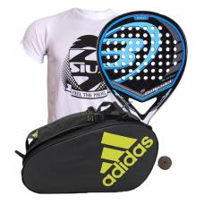 PACK BULLPADEL BLACK DRAGON Y PALETERO ADIDAS CONTROL CRB