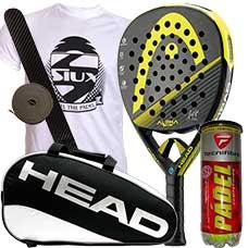 PACK HEAD GRAPHENE XT ALPHA PRO Y PALETERO HEAD PADEL SUPERCOMBI