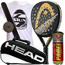 PACK HEAD GRAPHENE TORNADO E 2016 PRO Y PALETERO HEAD PADEL SUPERCOMBI