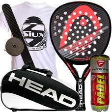 PACK HEAD TORNADO GRAPHENE 2015 Y PALETERO HEAD PADEL SUPERCOMBI