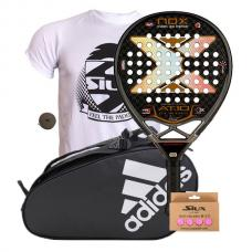 PACK NOX AT10 LUXURY GENIUS Y  PALETERO ADIDAS CONTROL CRB