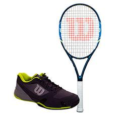 PACK WILSON ULTRA 100 UL TEAM Y ZAPATILLAS WILSON RUSH PRO 2.5