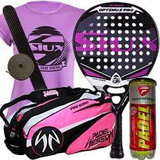 Pack Siux Optimus Pro Fucsia y paletero Padel Session