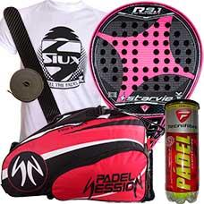 pack star vie r 9.1 drs carbon soft 2015 y paletero padel session