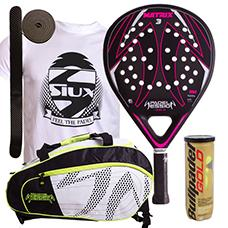PACK PADEL SESSION MATRIX 3 FUCSIA Y PALETERO MATRIX 3