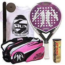 PACK PADEL SESSION V FORCE LADY Y PALETERO PRO SERIES