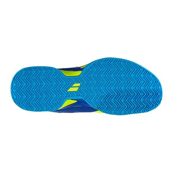 Amarillo//Azul Babolat Junior Propulse Todo Terreno Zapatillas Deportivas Tipo Tenis