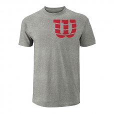 CAMISETA WILSON SHOULDER W COTTON TEE GRIS ROJA
