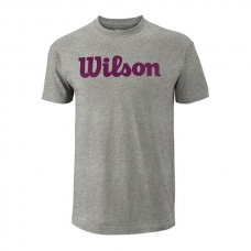CAMISETA WILSON SCRIPT COTTON TEE GRIS GRANATE