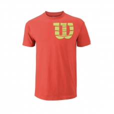 CAMISETA WILSON SHOULDER W COTTON TEE CORAL VERDE