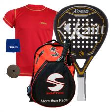 PACK KAITT XTREME PRO EXCELLENCE Y MOCHILA SOFTEE PADEL REX
