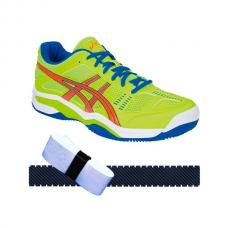 Zapatilla Asics Competition + overgrip + protector