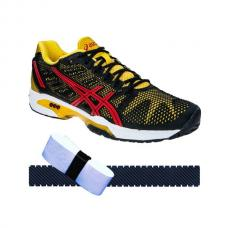 Zapatillas Asics Solution Speed2 + overgrip + protector